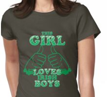 This Girl Loves Irish Boys Womens Fitted T-Shirt