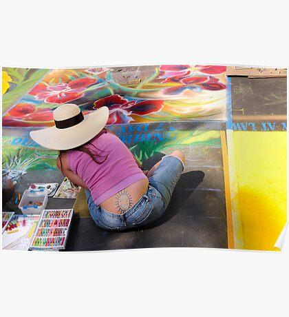Street Art Meet Body Art Poster