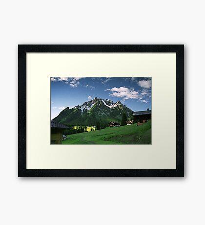 Morning snow at Ritzenspitzen, Austria Framed Print