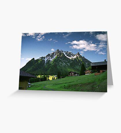 Morning snow at Ritzenspitzen, Austria Greeting Card