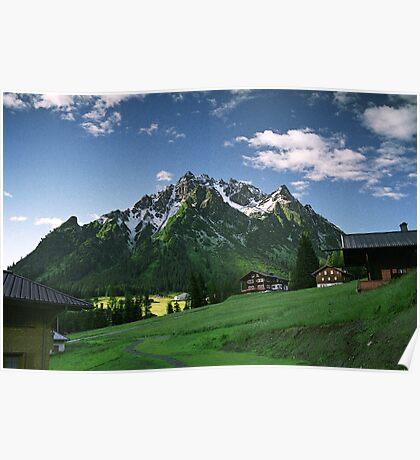 Morning snow at Ritzenspitzen, Austria Poster