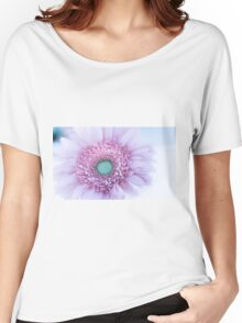 Soft Pink Gerbera Daisy Women's Relaxed Fit T-Shirt