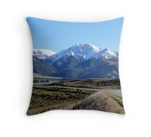 Road into Hanmer Springs, NZ Throw Pillow