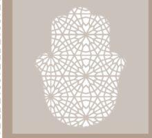 Hamsa in morrocan pattern Sticker