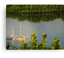 Early morning sailor Canvas Print