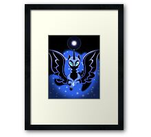 Nightmare Moon Shines Bright Framed Print