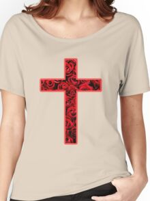 Roses Cross Women's Relaxed Fit T-Shirt