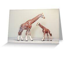 Giraffe Love Greeting Card
