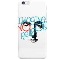 Imagine NO Religion vintage by Tai's Tees iPhone Case/Skin