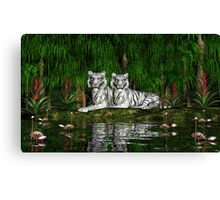 Pair of White Tigers Canvas Print