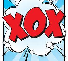 "HUGS & KISSES ""XOX"" Comic Book Exclamation! by kimBLiSS"