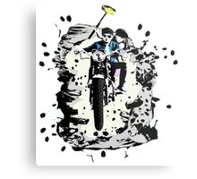 Emmett and Bay street art - Switched at Birth Metal Print