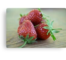 A close-up image  of strawberries Canvas Print