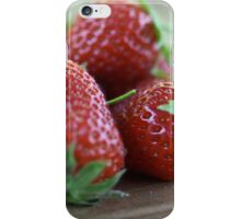 A close-up image  of strawberries iPhone Case/Skin