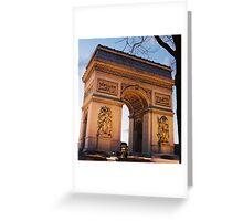 Crépuscule à l'Arc de Trimophe, Paris Greeting Card