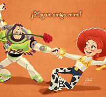El Buzzo y Jessie by AmberDust