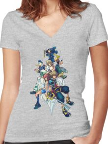 Kingdom Hearts 2 Women's Fitted V-Neck T-Shirt
