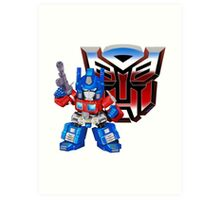 SD Optimus Prime Art Print