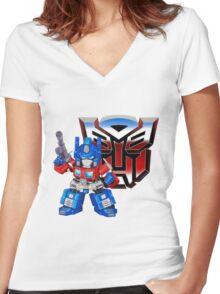 SD Optimus Prime Women's Fitted V-Neck T-Shirt