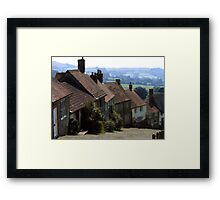 Gold Hill, Shaftsbury Dorset Framed Print
