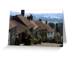 Gold Hill, Shaftsbury Dorset Greeting Card