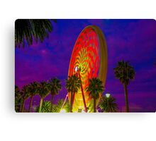 Colours Ot The Ferris Wheel At Geelong Waterfront Canvas Print