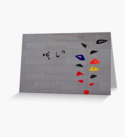 Alexander Calder, Cascading Flowers Greeting Card