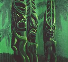 Gods - Hawaiian Sacred Carved Idols by sargus