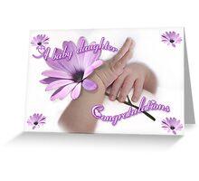 Congratulations -Baby girl Greeting Card