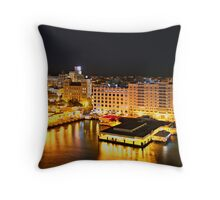 Night Time, San Juan, Puerto Rico Throw Pillow