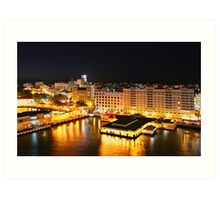Night Time, San Juan, Puerto Rico Art Print