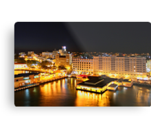 Night Time, San Juan, Puerto Rico Metal Print