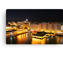 Night Time, San Juan, Puerto Rico Canvas Print