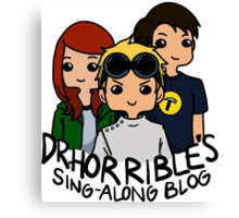Dr. Horrible's Sing-Along Blog Canvas Print