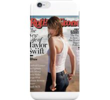 Taylor on the cover of Rolling Stone iPhone Case/Skin