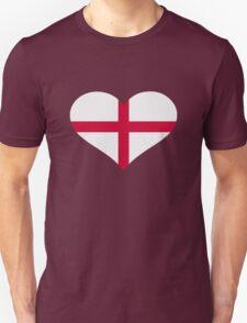 England flag heart Unisex T-Shirt