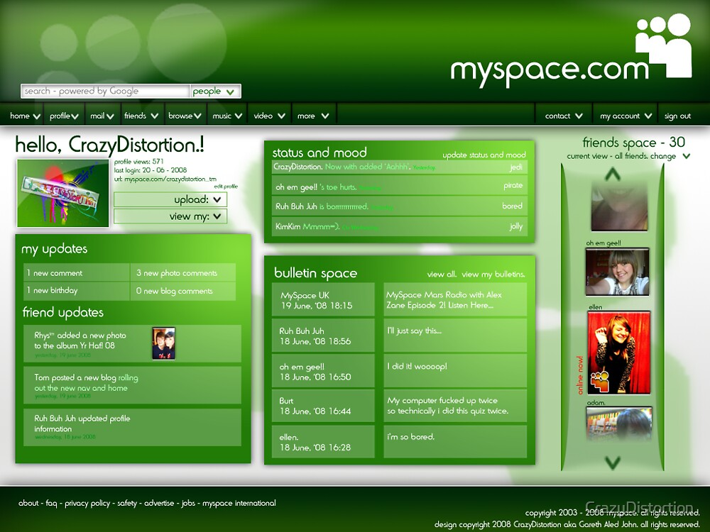 MySpace Had Too Many P's.... by CrazyDistortion