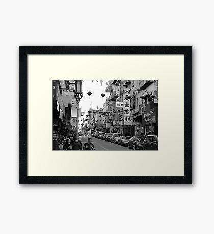 Chinatown, San Francisco During the Chinese New Year Framed Print