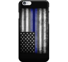 The Thin Blue Line - American Police Officer iPhone Case/Skin