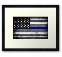 The Thin Blue Line - American Police Officer Framed Print