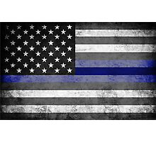 The Thin Blue Line - American Police Officer Photographic Print