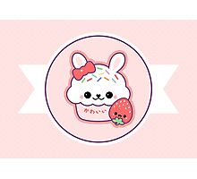 Cute Bunny Cake Photographic Print