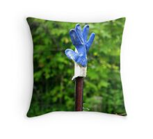 The gloved one Throw Pillow