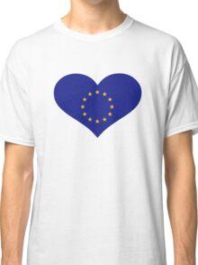 Europe EU flag heart Classic T-Shirt