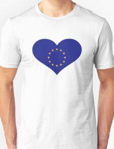 Europe EU flag heart Unisex T-Shirt
