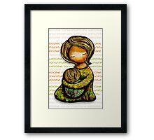 Madonna and Child Welcome Framed Print