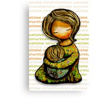 Madonna and Child Welcome Canvas Print