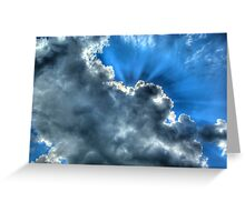 Clouds and Sky Over South East Ireland Greeting Card