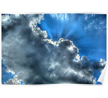 Clouds and Sky Over South East Ireland Poster
