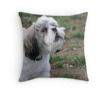 Barking Dog Throw Pillow